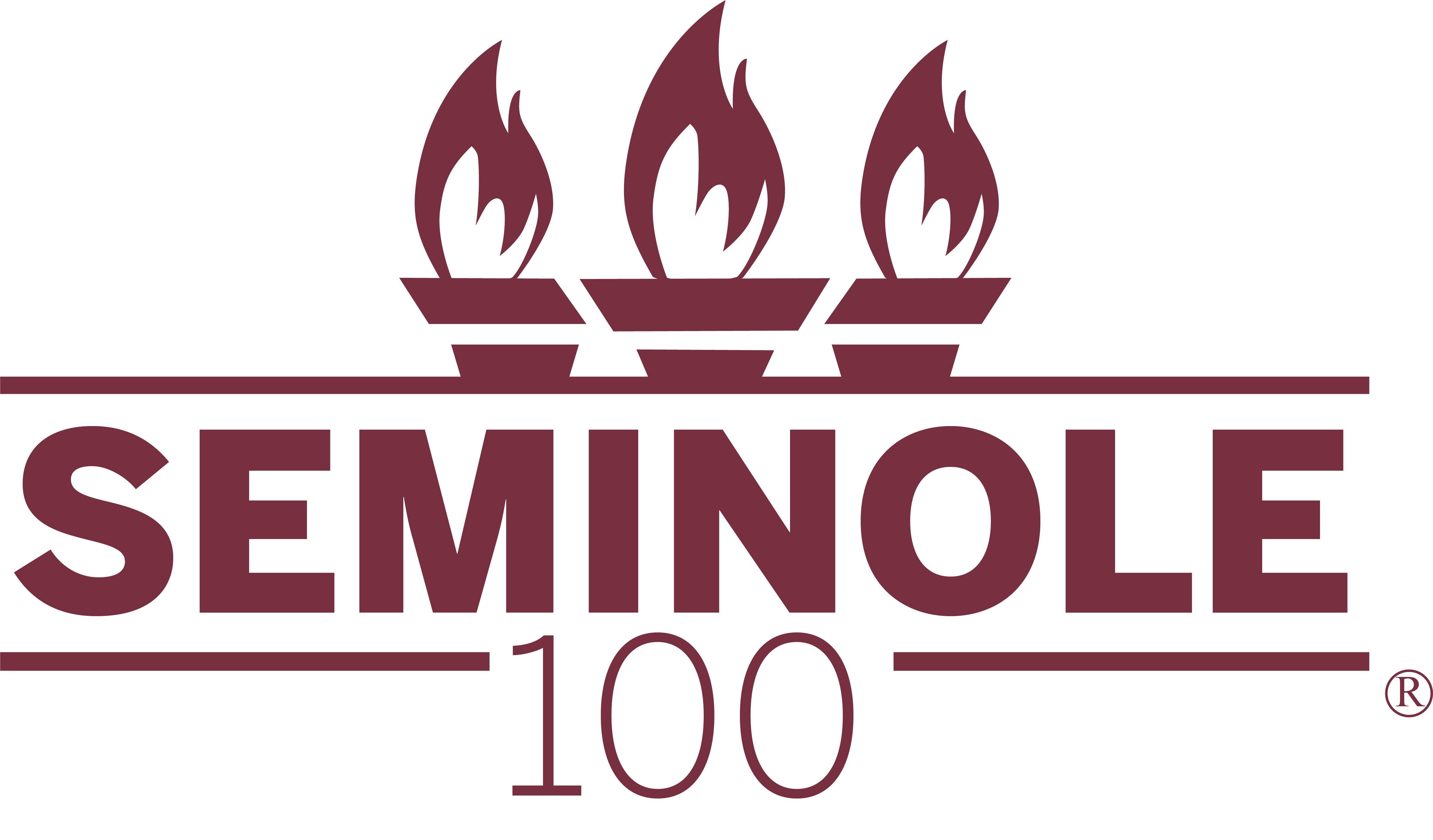 Seminole 100 Logo All Garnet