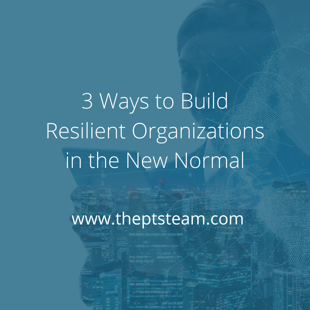 3 Ways to Build Resilient Organizations in the New Normal
