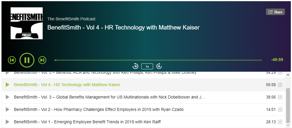 BenefitSmith - Vol 4 Podcast - HR Technology with Matthew Kaiser